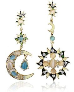 Eternity J. Vintage Retro Princess Palace Royal Court Victorian Circle Hoop Rhinestone Moon Sun Dangle Earring Gothic Baroque Bohemian Drop Earrings These are some of my favorite pieces of Halloween jewelry for 2017. In fact, I really love the chokers and some of the Halloween rings I wear year around. These make great Halloween costume accessories and can really elevate your Halloween costume. You can get all kinds of spooky, creepy and wicked cool Halloween costume ideas for...