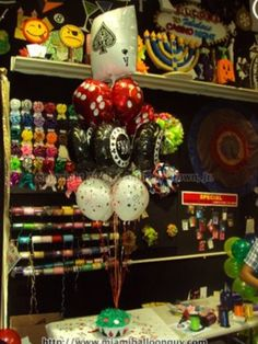 Casino balloon bouquet