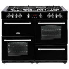 HK £1100  BuyBelling Farmhouse 110G Gas Range Cooker, Black Online at johnlewis.com