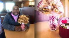 REAL LOVE! -Guy makes his gf a fry bouquet