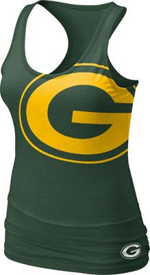 Green Bay Packers Women's Green Nike Big Logo Tri-Blend Tank Top