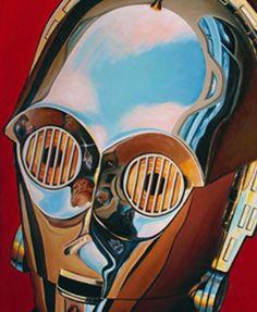 See-Threepio by Christian Waggoner - - star wars art Star Wars Fan Art, Star Trek, Power Pop, Star Wars Characters, Star Wars Episodes, Stargate, Pop Art, Star Wars Painting, Disney Fine Art