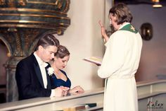 Wedding Ceremony at Porvoo Cathedral - part of the Lutheran Evangelical Lutheran Church of Finland