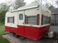 vintage camper, retro camper, antique camper, 1960s camper, 1970s camper, old school camper, camper art
