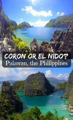 El Nido or Coron? Palawan the Philippines. Info on how to reach places to stay eating options costs beaches lagoons lakes scuba attractions party Voyage Philippines, Les Philippines, Philippines Travel Guide, Philippines Beaches, Coron Palawan Philippines, Phillipines Travel, Palawan Island, El Nido Palawan, Vietnam