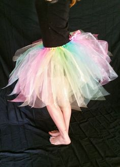 Pastel Rainbow Adult Tutu Skirt in Organza for by BoulderTutus