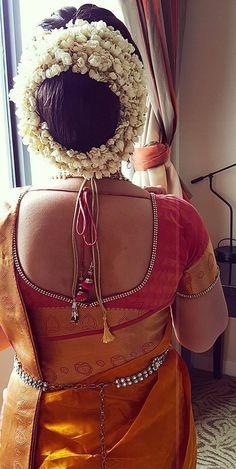 Indian Long Hair Braid, Braids For Long Hair, South Indian Wedding Hairstyles, Bridal Hair Buns, Beautiful Buns, Bun Hairstyles, Blouse Designs, Fashion Backpack, Feminine