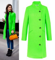 DOUBLE-BREASTED COAT IN ACID GREEN Inspired by Acne Studio $150.00. eye-catching acid/neon green, double-breasted, knee length, slim fit. Inspired by Acne Studio. 42% wool, 58% polyester. Click link for full detail: http://getthelooks.com.au/double-breasted-coat-in-acid-green Also available on ebay: http://cgi.ebay.com.au/ws/eBayISAPI.dll?ViewItem&item=171158335474&ssPageName=STRK%3AMESE%3AIT