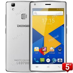 """Presell DOOGEE X5 MAX 5\"""" HD Android 6.0 MTK6580 Quad-core 3G Phone 8MP Dual CAM 1GB RAM 8GB ROM 4000mAh Battery Touch ID P07-X5M"""