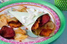 צילום: בועז לביא, סגנון: קרן ברק: צ'יפס ירקות קראנצ'י אפוי בתנור