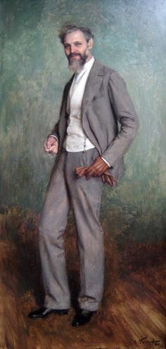 """Émile Friant: """"Portrait de M. Paul"""", 1896, oil on canvas, Current location:  Museum of Fine Arts of Nancy."""