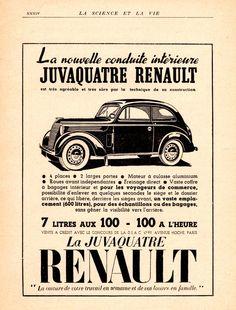 La nouvelle conduite intérieure Juvaquatre Renault 1939.