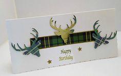 Scottish Happy Birthday Card Tartan Card Golden by HeartAndSoul11