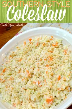 Homemade coleslaw with mayo and white vinegar. Similar to KFC's coleslaw recipe! Southern Recipes, Southern Style Coleslaw Recipe, Southern Coleslaw Recipe Vinegar, Creamy Cole Slaw Recipe, Southern Quotes, Southern Food, Best Coleslaw Recipe, Homemade Coleslaw, Eating Clean