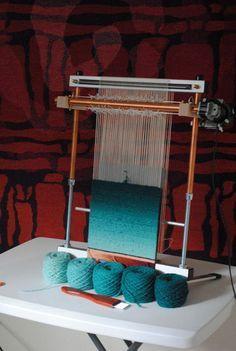 Work in progress by Rebecca Mezoff, Tapestry Artist and huge Mirrix Loom user/supporter/fan.