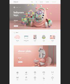 babycare on Behance Ui Website, Website Layout, Web Layout, Layout Design, Wireframe Web, Wordpress, Modern Web Design, Mobile Ui Design, Art Poses