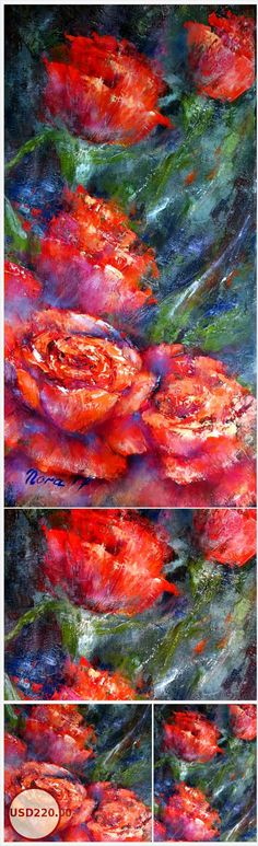 Original floral oil paintings on canvas for sale Oil Paintings of flowers #paintingsofroses #floralwallart #floralhomedecor #originaloilpaintingsforsale #eletartoilpaintings #texturepaintings https://www.etsy.com/EletArt/listing/579246759/original-floral-oil-paintings-on-canvas?ref=shop_home_active_8