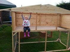 Rabbit Hutch and Run  Large Rabbit Home Perfect for Children to.  handmade by our lads at Boyles Pet Housing
