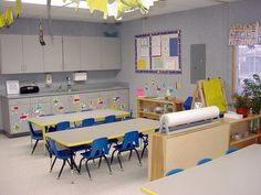 Head Start Classroom Design | EOC Headstart - Villarruel Architects, INC. Classroom Design, Classroom Decor, Preschool Kindergarten, Preschool Activities, Head Start Classroom, Early Childhood, Dining Table, Teaching, Education