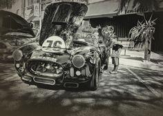 """Curious"" - Li'l Kid... Big Dreams #kids #blackandwhite #cars #automobiles #racecars #shelbycobra #olympus #m43 #street"