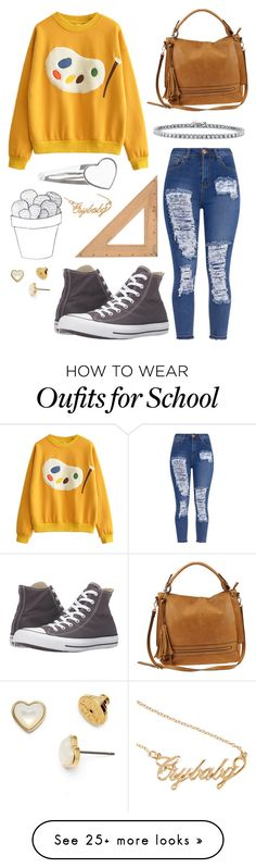"""""""Untitled #358"""" by lilacleyna on Polyvore featuring Converse, Urban Expressions, BERRICLE, Tory Burch and Hot Topic"""