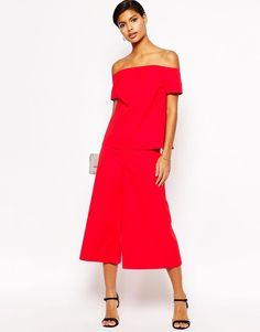 Asos Premium - Jupe-culotte d'ensemble - Rouge (57€)
