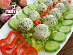Kahvaltılık Peynir Topları Caprese Salad, Good Food, Recipies, Healthy Food, Insalata Caprese, Yummy Food