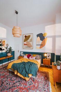 Bedroom Green, Bedroom Colors, Room Decor Bedroom, White Bedroom, Bedroom Modern, Bedroom Rugs, Bedroom Ideas, Bedroom Bed, Bed Room