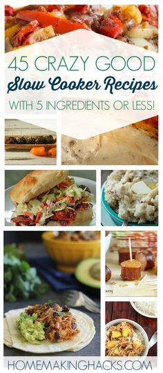 This is exaclty what I need! Big list of 5 ingredient slow cooker recipes!
