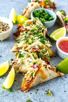 Wonton Recipes, Appetizer Recipes, Chicken Recipes, Wonton Appetizers, Brunch Appetizers, Chicken Appetizers, Lasagna Recipes, Chicken Wonton Tacos, Chicken Wontons
