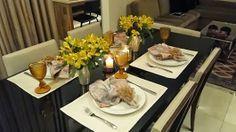 MESA DO DIA: Para um jantarzinho, Amarelo e Lilás | Vida de Casada
