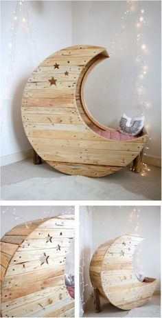 Travel to the moon in the comfort of their own bedroom with this AMAZING wooden chair.