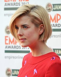 Agyness Deyn Hairstyle: Smooth and sleek is the main feature of the inverted bob haircut complete with subtle brown highlights. The ends and layers are jagged cut to keep a wispy edge, yet the bangs are blunt cut to frame the face and enhance the entire style ideally. The look is perfect for people with[Read the Rest]