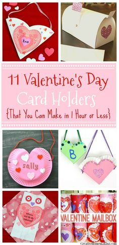 Need to make a Valentine holder at the last minute for a child& class Valentines Day party? All of these Valentine holders can be made in less than an hour! Diy Valentine's Day Card Holder, Valentines Card Holder, Diy Valentine's Box, Valentines Day Party, Valentine Day Crafts, Card Holders, Valentine Ideas, Valentine Activities, Class Activities