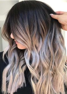 38 Gorgeous Smokey Ombre Hair Color Ideas for 2018. Discover here the most amazing trends and shades of smokey ombre hair colors to show off with long and medium haircuts in 2018. The combination of grey and smokey hair colors is really awesome choice for all the gorgeous ladies. Visit here to see our collection of ombre hair colors and shades for cutest hair look.