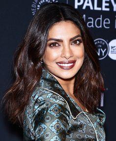 How to Get Priyanka Chopra's Lip Colors - gold-flecked brown