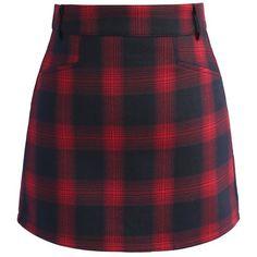 Chicwish Classy Tartan Bud Skirt in Red (189515 PYG) ❤ liked on Polyvore featuring skirts, mini skirts, bottoms, юбки, red, short mini skirts, purple plaid mini skirt, red plaid mini skirt, red skirt and short purple skirt