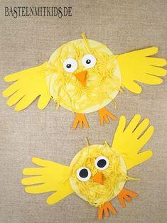 Küken basteln mit Kindern für Ostern. Mit eigenen Händen schnell und einfach zu Ostern Basteln. www.bastelnmitkids.de