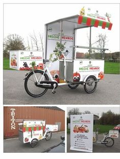 Quick Tune-Up For Spring Bicycle Riding Food Cart Design, Food Truck Design, Mobile Cafe, Mobile Shop, Mobile Food Cart, Bike Cart, Bike Food, Velo Cargo, Food Kiosk