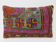 16x24 autumn kilim pillow red throw pillow by DECOLICKILIMPILLOWS