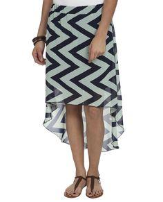6d67495d1a Chevron High Low Maxi Skirt - Mint $22.90 Wet Seal, Chevron, Latest Fashion  Clothes