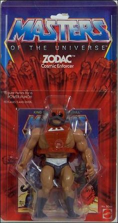 """Zodac, one of the original action figures from the """"Masters of the Universe"""" line of toys"""