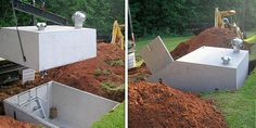 Storm Shelters - Protect your family or business from dangerous storms and tornadoes with an exterior concrete storm shelter or interior steel safe room. Underground Tornado Shelters, Underground Bunker, Survival Shelter, Survival Prepping, Mobile Home Porch, Storm Cellar, Storm Shelters, Earth Sheltered Homes, Crochet Tree