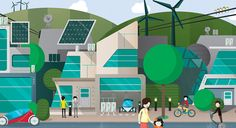 Crush | Siemens - Future Cities Illustration