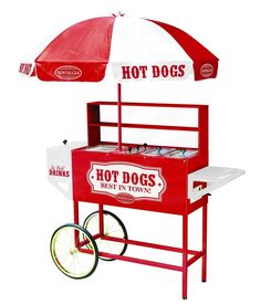 This hot dog stand is a fun way for guests to select and make their own hot dogs at a home picnic or party. Model Number: HDC701. All Nostalgia Electrics carry the GS and SSA electrical approvals. Includes large umbrella for protection from the sun. | eBay!