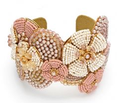 lovely cuff by miriam haskell- Miriam Haskell is one of my favorite jewelry designers. this idea would be easy to copy