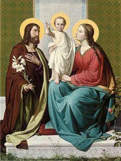 LA SANTA FAMILIA Attributed to Bernhard Plockhorst (1825-1907) — The Holy Family (603x800)