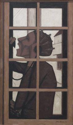 The telephone box, by John Brack, 1954. Oil on canvas.