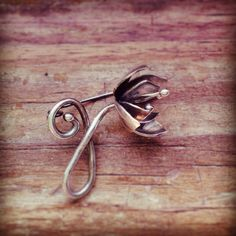Crocus sweater pin in sterling silver :: The Rare Bird