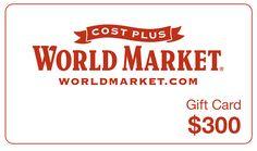 Ellen TV - Win a $300 Cost Plus World Market Gift Card - http://sweepstakesden.com/ellen-tv-win-a-300-cost-plus-world-market-gift-card/
